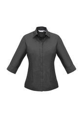 Biz Ladies Hemmingway 3/4 Sleeve Shirt - Workwear Warehouse