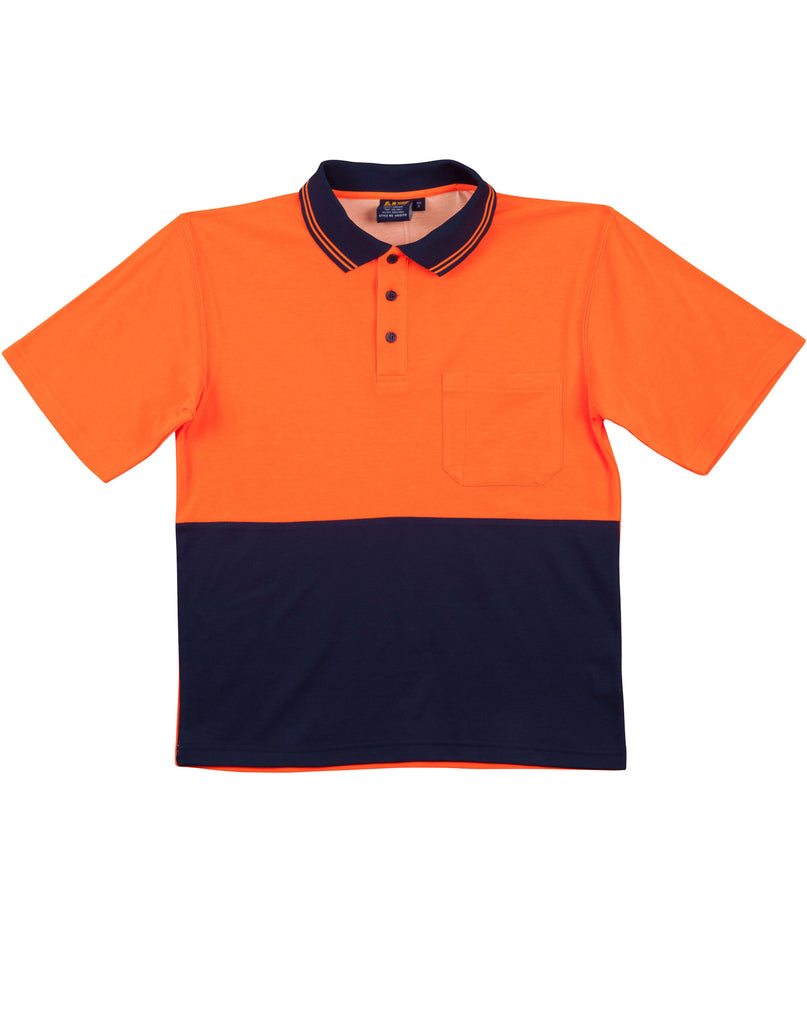 WS True Dry Cotton/Poly Safety Polo - Workwear Warehouse