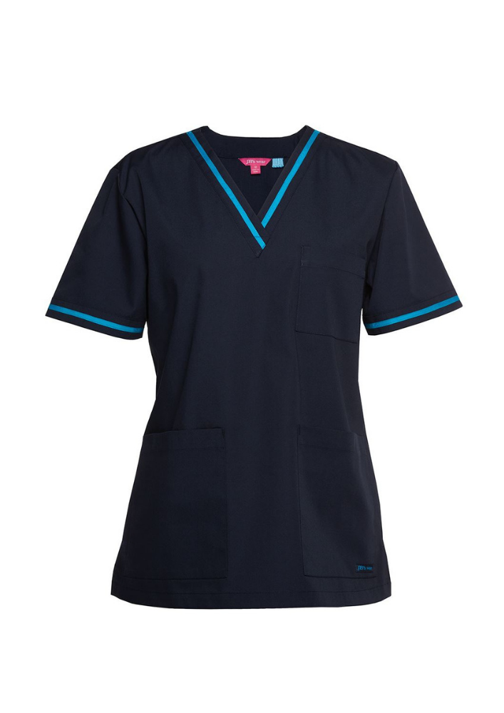 JBs Contrast Ladies Scrub Top - Workwear Warehouse