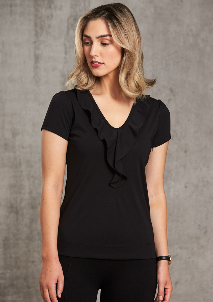 WS Ruffle Front Blouse