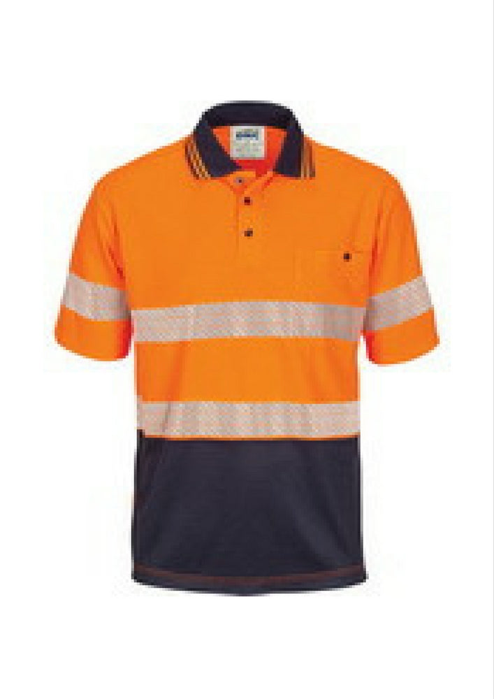 DNC Hi Vis Taped Micromesh Polo - Workwear Warehouse