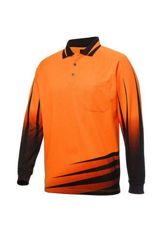 JBs Hi Vis Rippa Sub L/S Polo - Workwear Warehouse