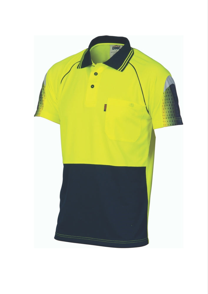 DNC Cool Breathe Sublimated Piping Polo - Workwear Warehouse