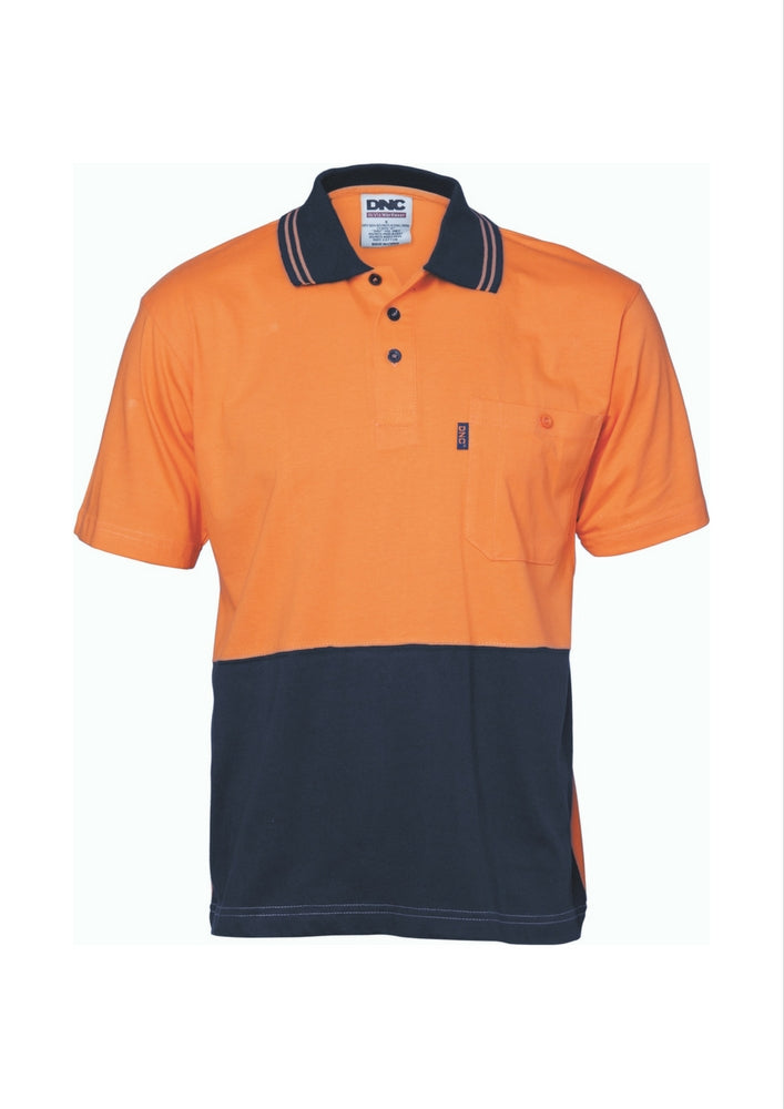 DNC Hi Vis Cool Breeze Cotton Jersey Polo - Workwear Warehouse