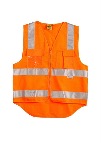 WS Hi Vis Safety Vest with 3M Tape - Workwear Warehouse