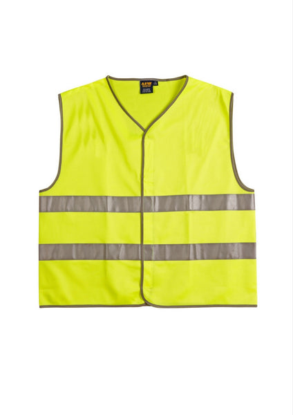 WS Hi Vis Safety Vest with Reflective Tape - Workwear Warehouse