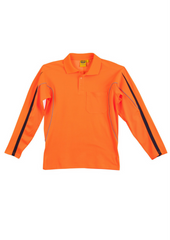 WS Men's Legend Hi Vis L/S Polo - Workwear Warehouse