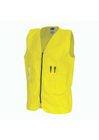DNC Daytime Hi Vis Cotton Safety Vest - Workwear Warehouse