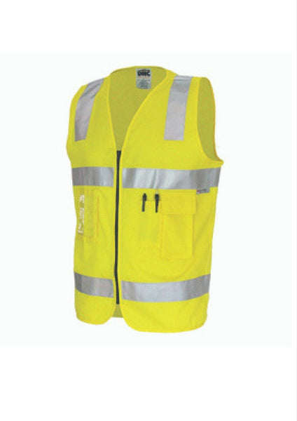 DNC Day/Night Hi Vis Cotton Safety Vest - Workwear Warehouse