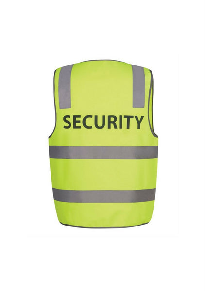 JBs Hi Vis D&N Safety Vest SECURITY