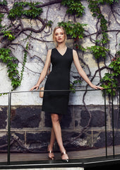 BC Ladies V Neck Dress - Wool - Workwear Warehouse