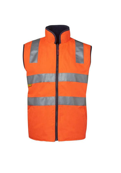JB'S Hi Vis (D+N) Reversible Vest - Workwear Warehouse
