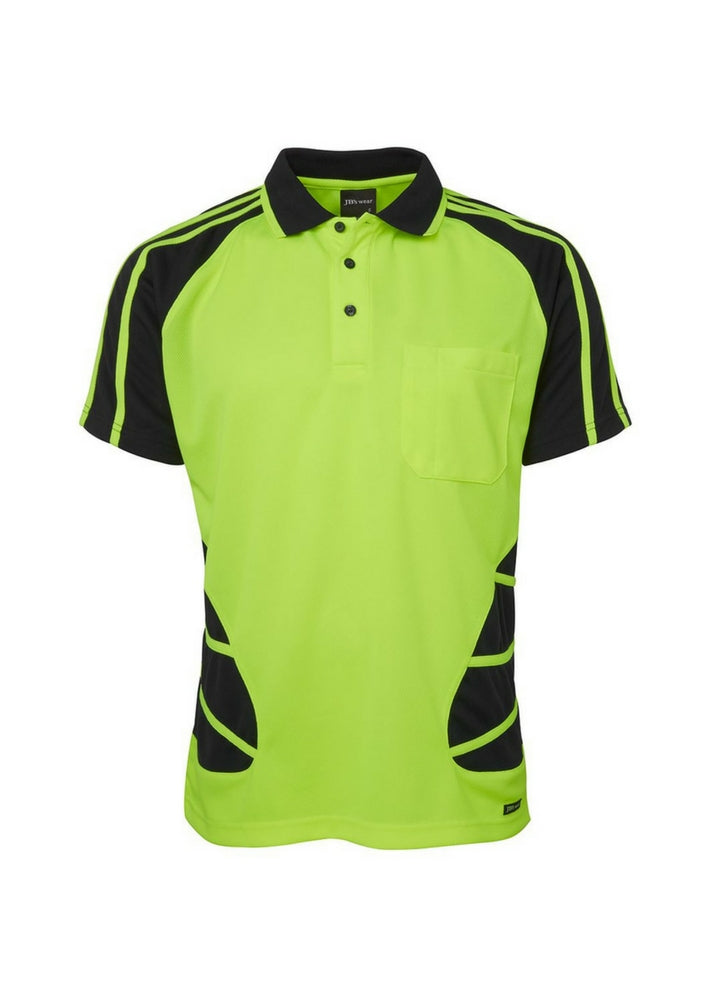 JB'S Hi Vis S/S Spider Polo - Workwear Warehouse