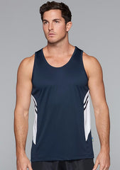 Tasman men's singlet (Bright) - Workwear Warehouse