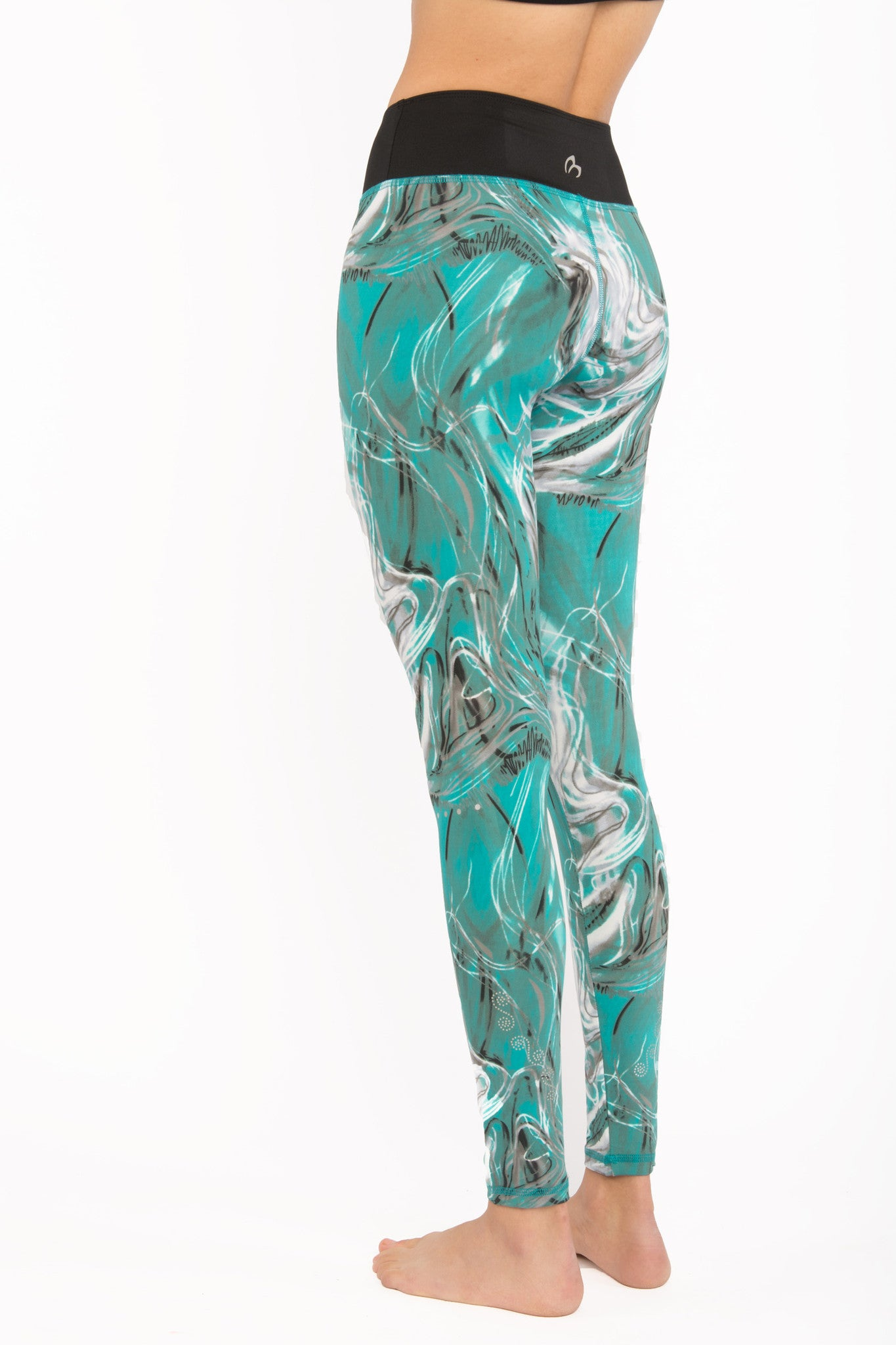 Ocean Swirl Yoga Leggings