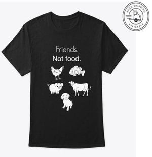 Friends not food T-shirt (Unisex)