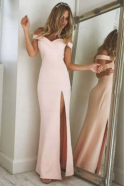 Sheath Off the Shoulder Floor Length Prom Dresses Elegant Evening Dresses For Women