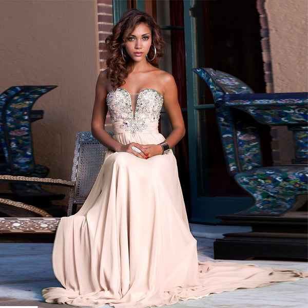 Sweetheart A-Line Prom Dress,Prom Dresses,Long Evening Dress
