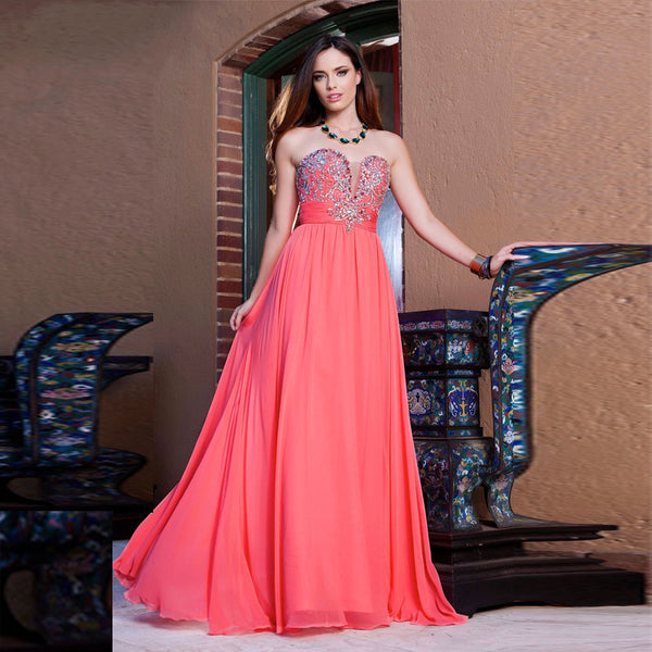 Sweetheart A-Line Prom Dress,Pink Prom Dresses,Long Evening Dress