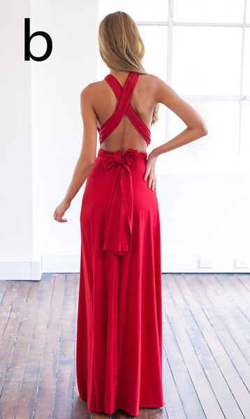 A-Line Red Prom Dresses ,Backless Prom Dress,Long Evening Dress