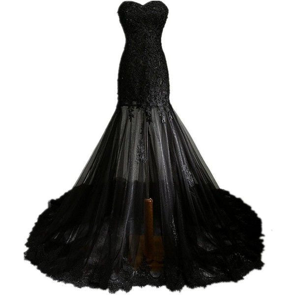 Floor Length Black Sweetheart Prom Dresses,Prom Dress