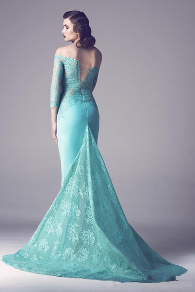 Mermaid Prom Dresses,Floor Length Prom Dresses,Long Evening Dress
