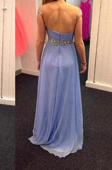 Homecoming Dress,Lavender Off Shoulder Beaded Long Prom Dress