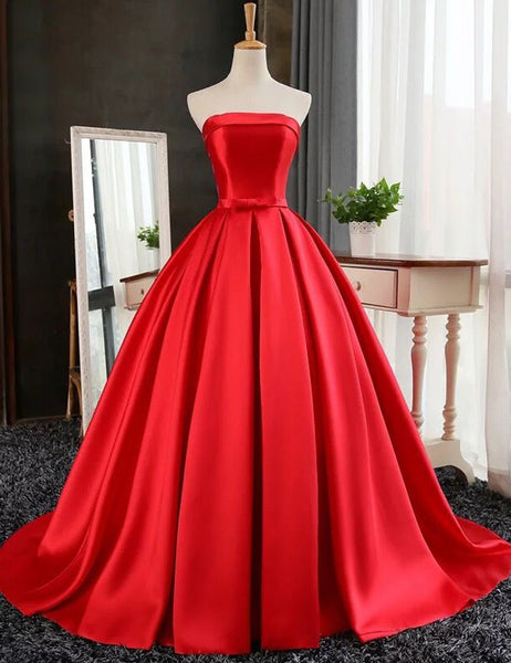 Simple Satin A-Line Prom Dresses,Prom Dress