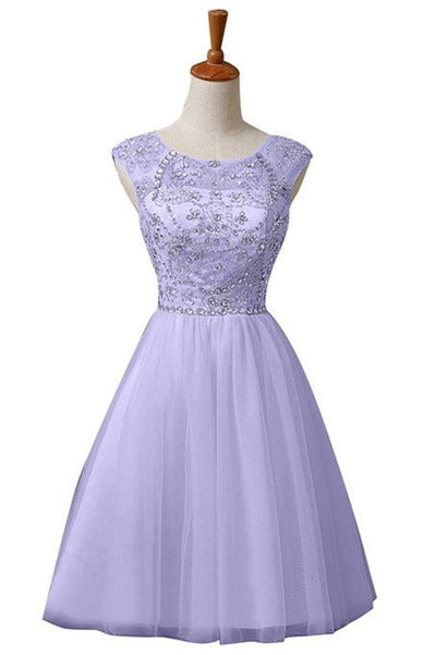 Lavender Chiffon Homecoming Dress,Homecoming Dress With Sequins,Sweet Homecoming Dresses