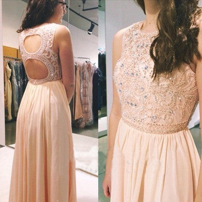 A-Line Prom Dress,Pink Prom Dress,Long Evening Dresses