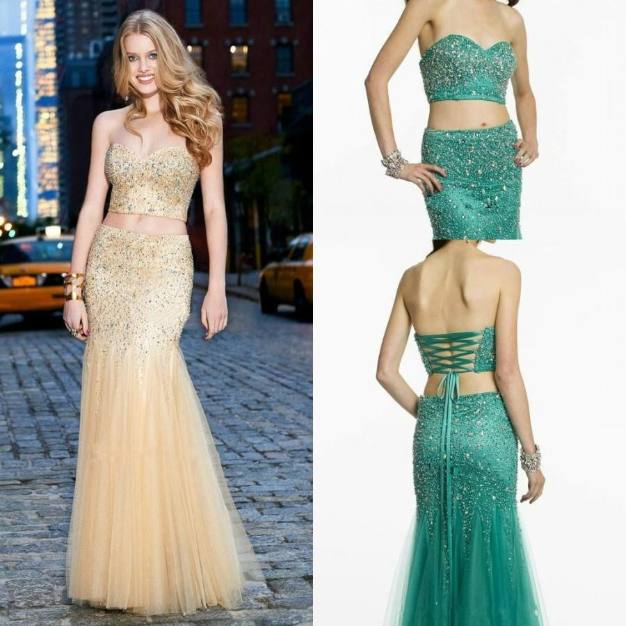 Sweetheart Strapless Prom Dresses,Prom Dress,Long Evening Dress