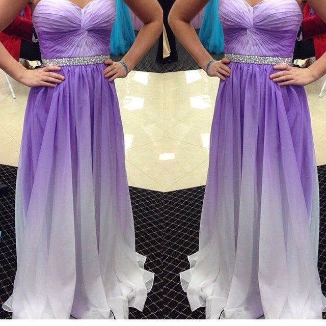 Sweetheart Prom Dresses,Purple Prom Dresses,Long Evening Dress