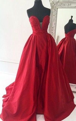 A-Line Sweetheart Red Prom Dresses,Prom Dress