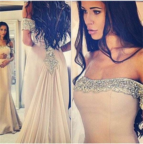 Off Shoulder Prom Dresses,Mermaid Prom Dresses, Long Evening Dress