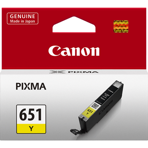 Canon CLI651Y Yellow Standard Ink (~330 pages)