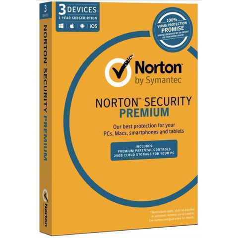 Norton Security Premium (3 User) 12-month Subscription