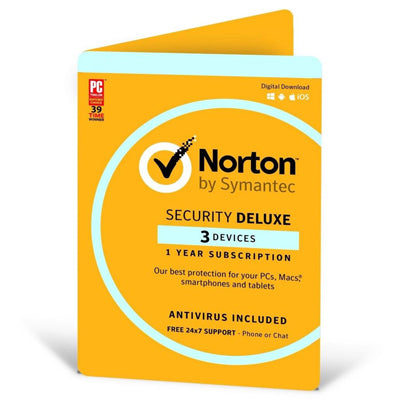 Norton Security Deluxe (3 User) 12-month Subscription/Renewal