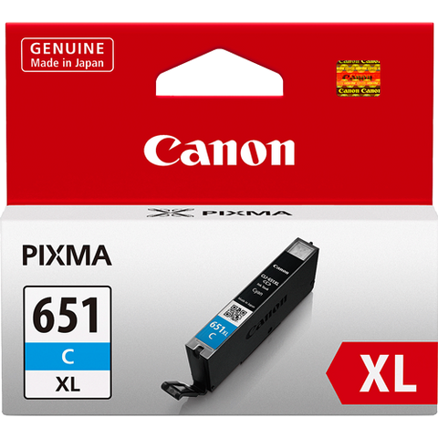 Canon CLI651XLC XL Cyan High Yield Ink (~750 pages)