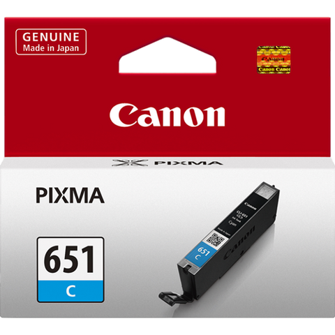 Canon CLI651C Cyan Standard Ink (~330 pages)