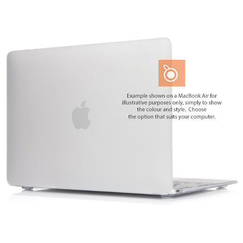 Hard Shell Case MacBook Pro 15i A1286 (Clear/White Matte) DVD