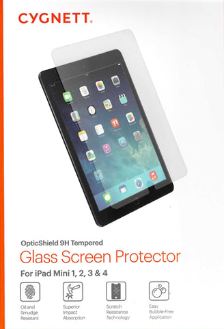 Cygnett iPad mini Screen Protector (Glass) x1 Single OptiShield