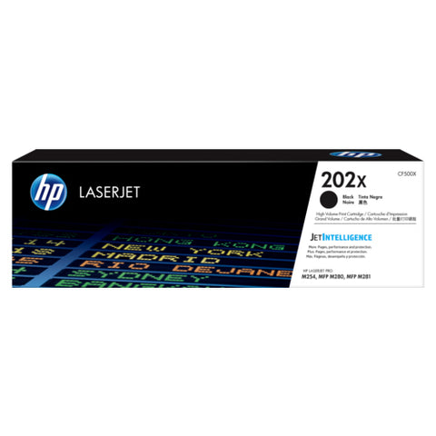 HP Toner 202X Black (3200 pages) High Yield CF500X (Genuine)