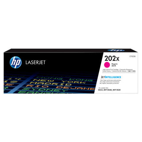 HP Toner 202X Magenta (2500 pages) High Yield CF503X (Genuine)