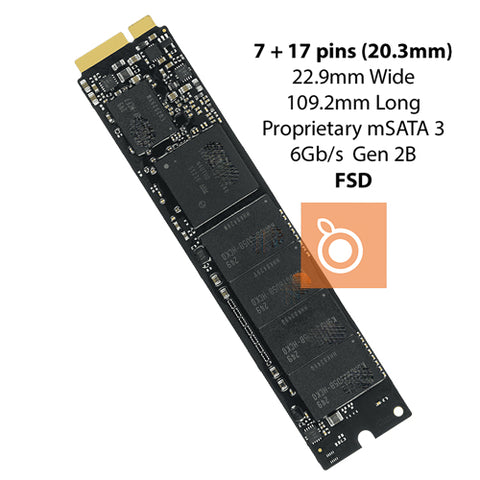 Apple Flash Storage (FSD) 256GB 2012 Air Apple mSATA3 6Gb/s