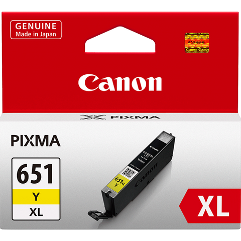 Canon CLI651XLY XL Yellow High Yield Ink (~750 pages)