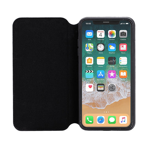 3SIXT iPhone Xs/X Slim Folio (Black) Case