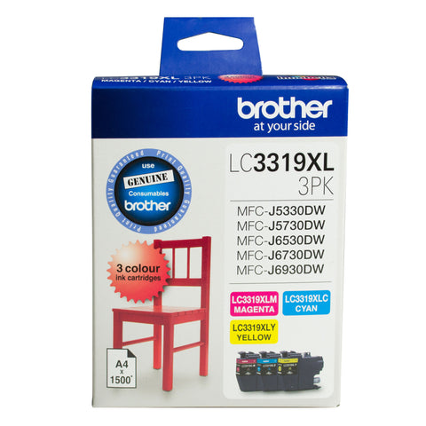 Brother Ink LC3319XL3PK 3pack (Cyan Magenta Yellow) High Yield