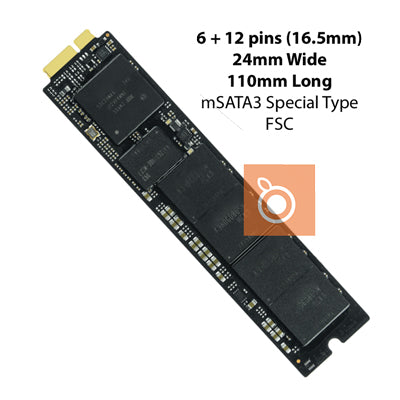 Apple Flash Storage (FSC) 128GB 2011 2010 Apple mSATA3 6Gb/s