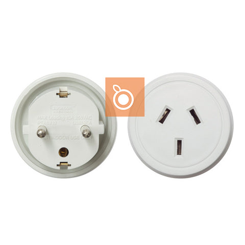 Travel Adapter (Europe/Bali Plug) with NZ Socket