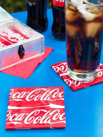 Recycled Coca Cola Coasters
